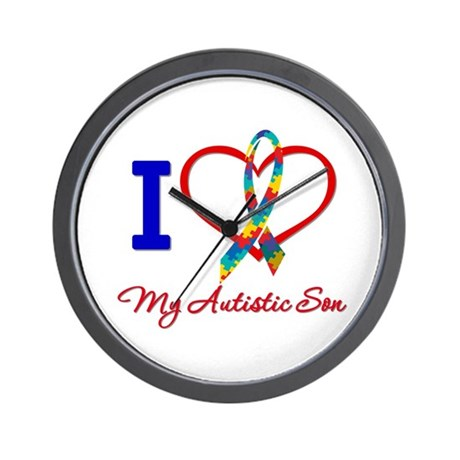 I Love My Autistic Son Wall Clock