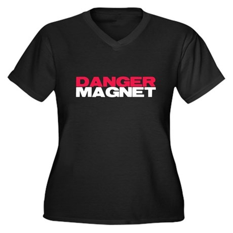 Danger Magnet Twilight Women's Plus Size V-Neck