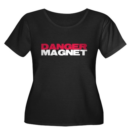 Danger Magnet Twilight Women's Plus Size Scoop Nec