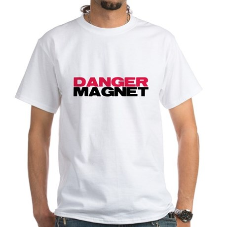 Danger Magnet Twilight White T-Shirt