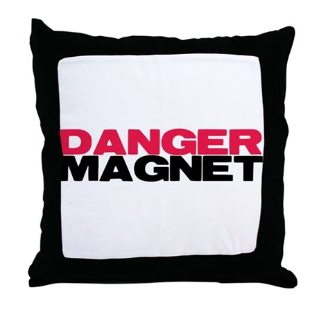 Danger Magnet Twilight Throw Pillow