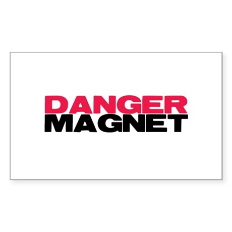Danger Magnet Twilight Rectangle Sticker