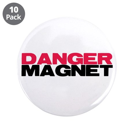 "Danger Magnet Twilight 3.5"" Button (10 pack)"