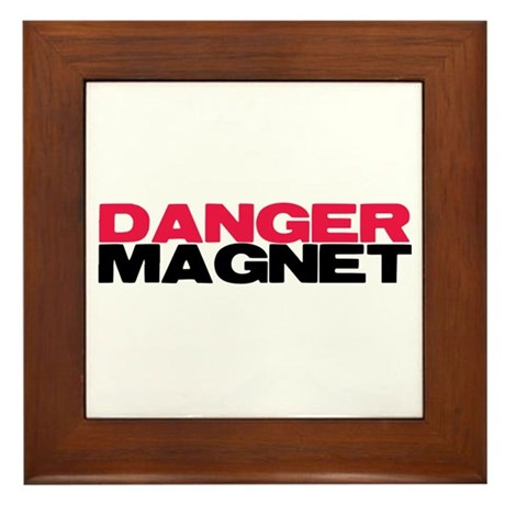 Danger Magnet Twilight Framed Tile