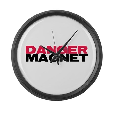 Danger Magnet Twilight Large Wall Clock