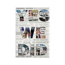 Yes We Did: Historic Obama Ne Rectangle Magnet