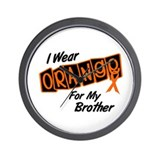I Wear Orange For My Brother 8 Wall Clock