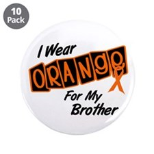 "I Wear Orange For My Brother 8 3.5"" Button (10 pac"