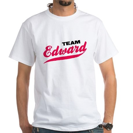 Team Edward Twilight White T-Shirt