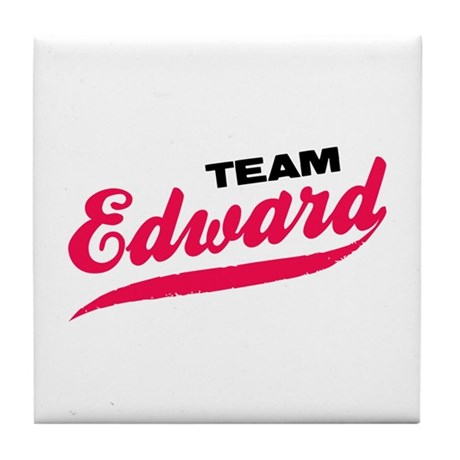 Team Edward Twilight Tile Coaster