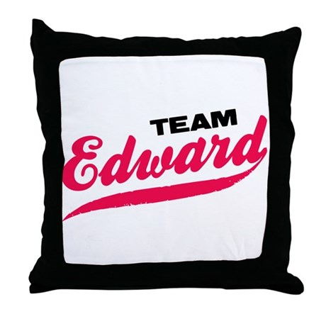 Team Edward Twilight Throw Pillow