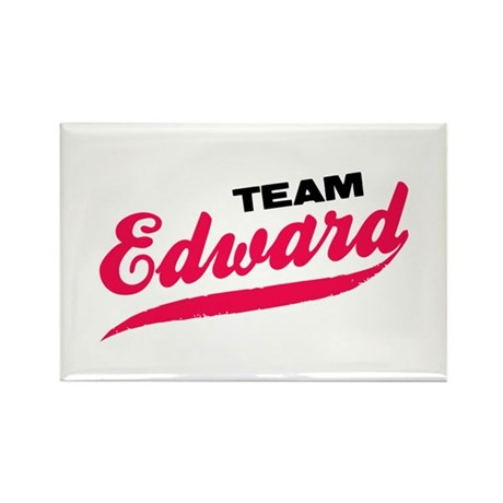 Team Edward Twilight Rectangle Magnet
