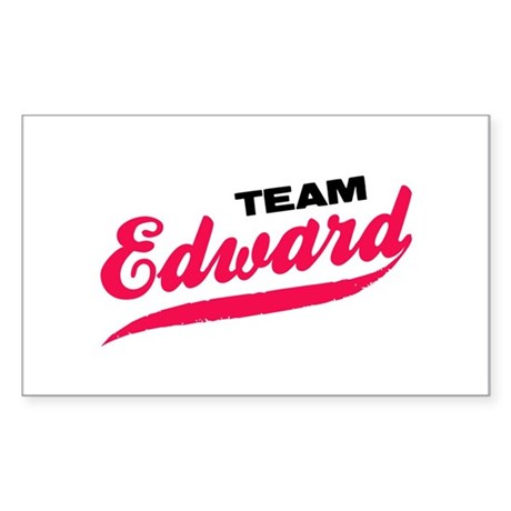 Team Edward Twilight Rectangle Sticker