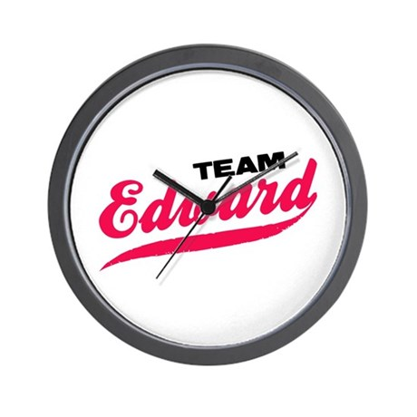 Team Edward Twilight Wall Clock