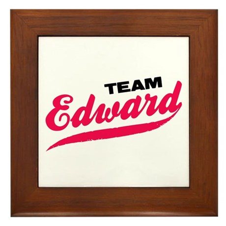 Team Edward Twilight Framed Tile