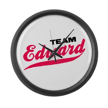 Team Edward Twilight Large Wall Clock