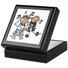 First Dance (stick figures) Keepsake Box