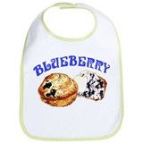 Painted Blueberry Muffins Bib