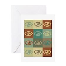 Optometry Pop Art Greeting Card