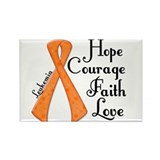 Hope Courage Faith Love LEUKEMIA Rectangle Magnet