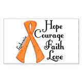 Hope Courage Faith Love LEUKEMIA Decal