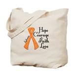 Hope Courage Faith Love LEUKEMIA Tote Bag