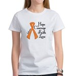 Hope Courage Faith Love LEUKEMIA Women's T-Shirt