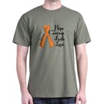 Hope Courage Faith Love LEUKEMIA Dark T-Shirt