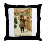 Toy Store at Christmas Throw Pillow
