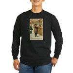 Toy Store at Christmas Long Sleeve Dark T-Shirt