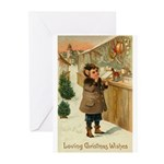 Toy Store at Christmas Greeting Cards (Pk of 10)