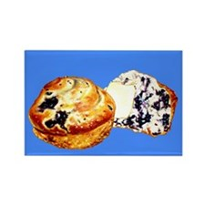 Blueberry Muffins Blue Rectangle Magnet