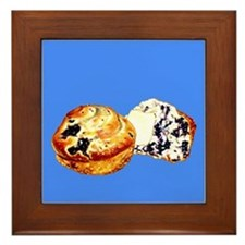 Blueberry Muffins Blue Framed Tile