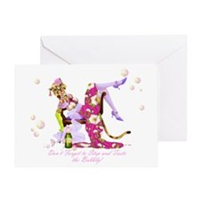 Katty Diva Bubbly Greeting Card
