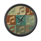 Music Pop Art Large Wall Clock