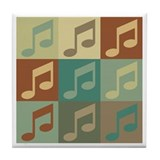 Music Pop Art Tile Coaster