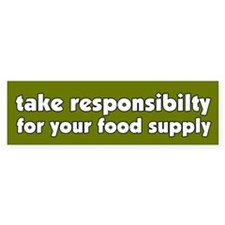 Food Supply Bumper Bumper Sticker