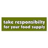 Food Supply Bumper Car Sticker