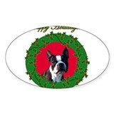 Boston Terrier Oval Sticker (50 pk)