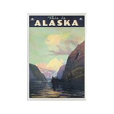 Alaska US Rectangle Magnet
