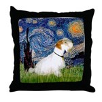 Starry Night/Sealyham L1 Throw Pillow