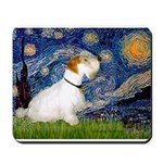 Starry Night/Sealyham L1 Mousepad