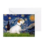 Starry Night/Sealyham L1 Greeting Card