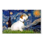 Starry Night/Sealyham L1 Sticker (Rectangle 10 pk)