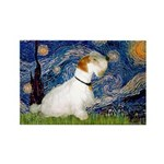 Starry Night/Sealyham L1 Rectangle Magnet (10 pack