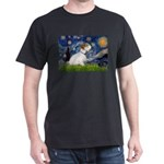 Starry Night/Sealyham L1 Dark T-Shirt