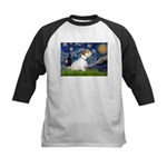 Starry Night/Sealyham L1 Kids Baseball Jersey