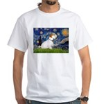 Starry Night/Sealyham L1 White T-Shirt