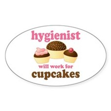 Chocolate Cupcake Hygienist Oval Decal