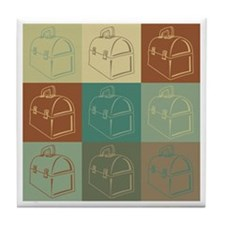 Lunchboxes Pop Art Tile Coaster